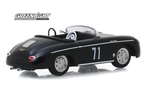 1958 Porsche 356 Speedster Super #71 Race Car, Black - Greenlight 86538 - 1/43 scale Diecast Model Toy Car