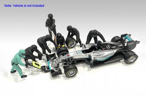 Formula One F1 Pit Crew, Black - American Diorama 38383 - 1/43 scale Figurines - Diorama Accessory