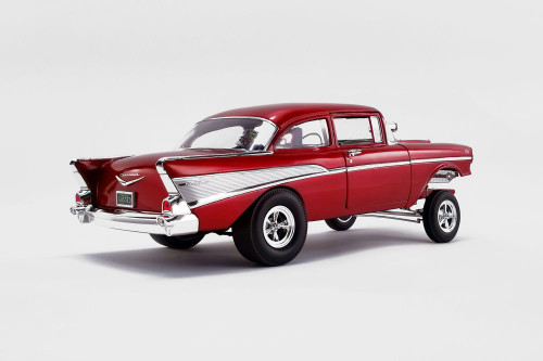 """""""Rat Fink Gasser"""" 1957 Chevy Bel Air Gasser, Red - Acme A1807008 - 1/18 scale Diecast Model Toy Car"""