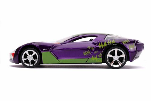 2020 Chevy Corvette Stingray, The Joker - Jada Toys 32096 - 1/32 scale Diecast Model Toy Car