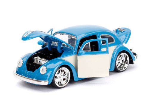1959 Volkswagen Beetle, Blue - Jada Toys 99018 - 1/24 scale Diecast Model Toy Car