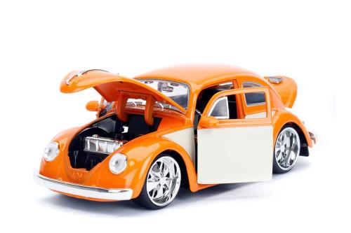 1959 Volkswagen Beetle, Orange - Jada Toys 99019 - 1/24 scale Diecast Model Toy Car