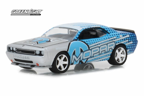 2009 Dodge Charger SRT8 MOPAR, Blue - Greenlight 29962/48 - 1/64 scale Diecast Model Toy Car