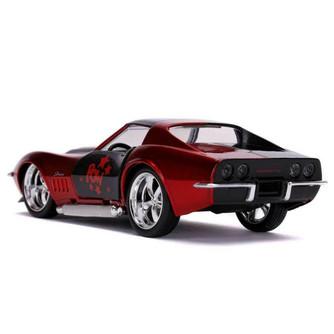 1969 Chevy Corvette Stingray, Harley Quinn - Jada Toys 32095/24 - 1/32 scale Diecast Model Toy Car