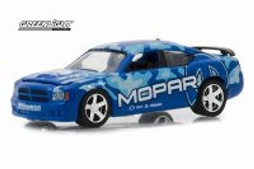 2008 Dodge Charger SRT8 MOPAR, Blue - Greenlight 29961/48 - 1/64 scale Diecast Model Toy Car