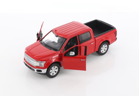 2019 Ford F-150 Lariat Crew Cab Pickup Truck, Red - Showcasts 79363/16D - 1/27 scale Diecast Model Toy Car