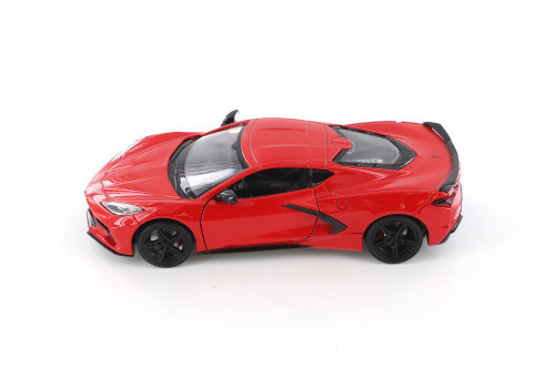 2020 Chevy Corvette C8 Stingray, Red - Showcasts 79360/16D - 1/24 scale Diecast Model Toy Car