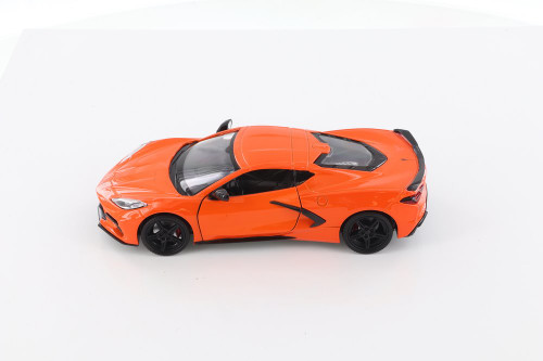 2020 Chevy Corvette C8 Stingray, Orange - Showcasts 79360/16D - 1/24 scale Diecast Model Toy Car