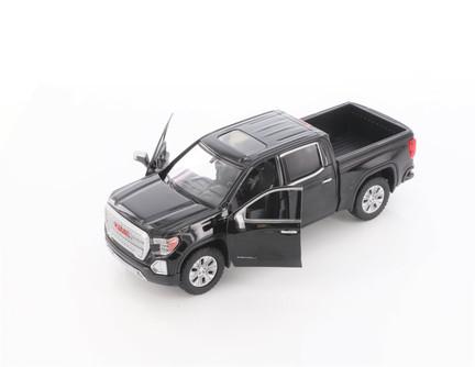 2019 GMC Sierra 1500 Denali Crew Cab Pickup Truck, Black - Showcasts 79362/16D - 1/27 scale Diecast Model Toy Car