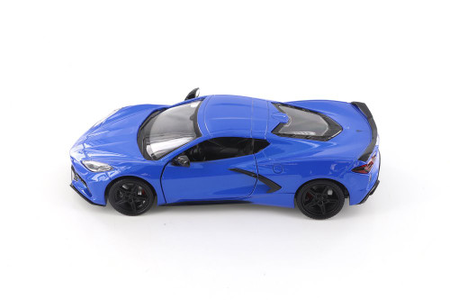 2020 Chevy Corvette C8 Stingray, Blue - Showcasts 79360/16D - 1/24 scale Diecast Model Toy Car