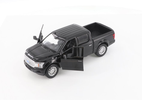 2019 Ford F-150 Limited Crew Cab Pickup Truck, Black - Showcasts 79364/16D - 1/27 scale Diecast Model Toy Car