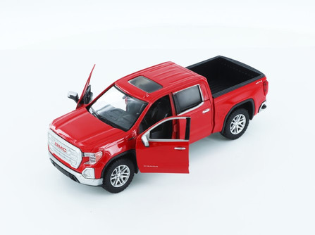 2019 GMC Sierra 1500 SLT Crew Cab Pickup Truck, Red - Showcasts 79361/2D - 1/27 scale Diecast Model Toy Car
