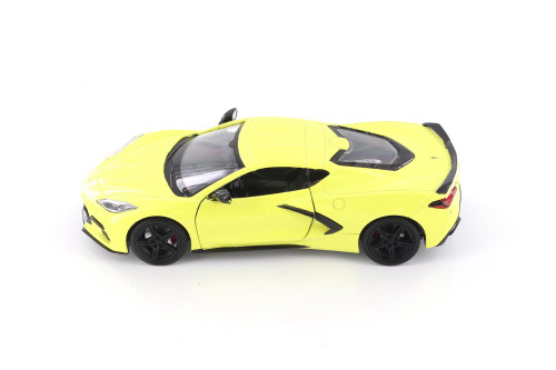 2020 Chevy Corvette C8 Stingray, Yellow - Showcasts 79360/16D - 1/24 scale Diecast Model Toy Car