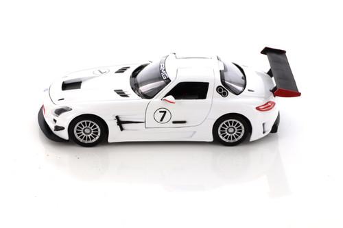 Mercedes-Benz SLS AMG GT-3, White - Showcasts 73356/16D - 1/24 scale Diecast Model Toy Car