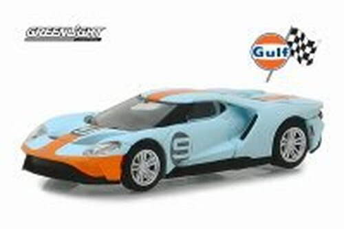 2019 Ford GT Heritage Edition, #9 Gulf Racing - Greenlight 29909/48 - 1/64 Scale Diecast Model Toy Car