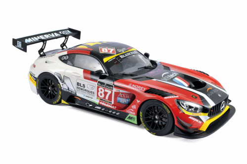 2016 Mercedes AMG GT3, #87 Ricci / Beaubelique / Vannelet (Team Akka) Winners GT Series Monza - Norev 183492 - 1/18 scale Diecast Model Toy Car