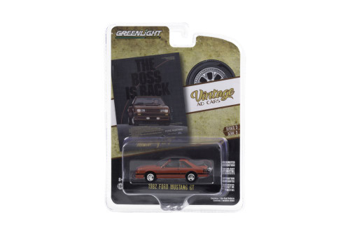 """The Boss is Back"" 1982 Ford Mustang GT, Red - Greenlight 39050/48 - 1/64 scale Diecast Model Toy Car"