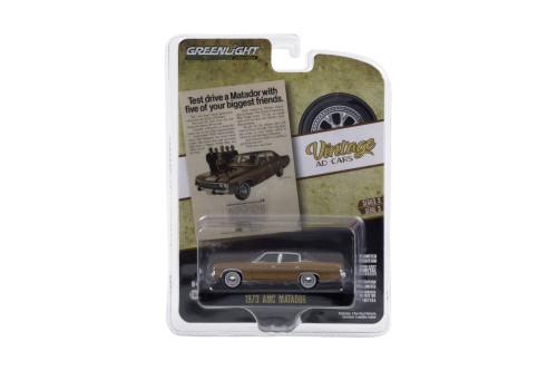 """Test drive a Matador with five of your biggest friends"" 1973 AMC Matador, Copper/Bronze - Greenlight 39050/48 - 1/64 scale Diecast Model Toy Car"
