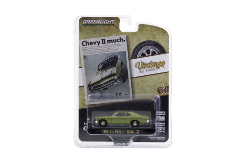 """""""Chevy II much"""" 1968 Chevy Nova SS, Green - Greenlight 39050/48 - 1/64 scale Diecast Model Toy Car"""
