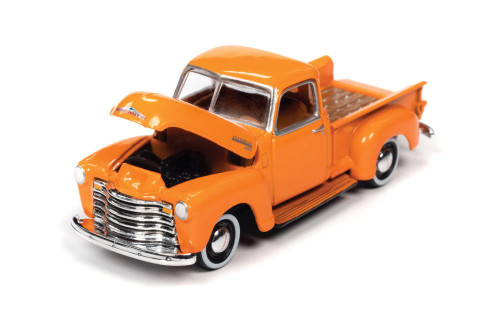 1950 Chevy 3100 Pickup Truck, Omaha Orange - Johnny Lightning JLSP106/24A - 1/64 scale Diecast Model Toy Car