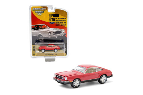 1976 Ford T5, Bright Red /Black - Greenlight 30204/48 - 1/64 scale Diecast Model Toy Car
