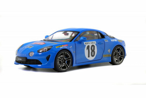 2018 Alpine A110 #18 Premier Edition, Rallye Monte-Carlo Historique - Solido S1801603 - 1/18 scale Diecast Model Toy Car