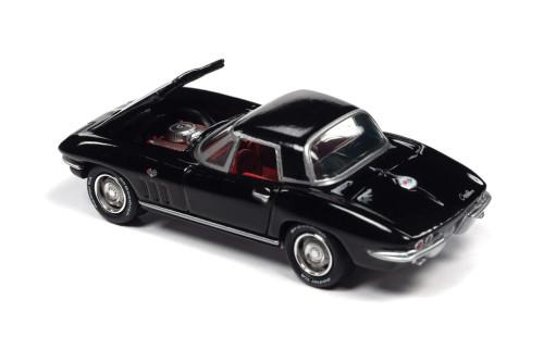 1965 Chevy Corvette, Tuxedo Black - Johnny Lightning JLSP103/24A - 1/64 scale Diecast Model Toy Car