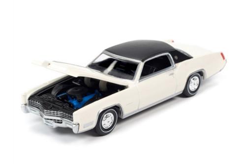 1967 Cadillac Eldorado Hardtop, Grecian White /Black - Auto World AWSP047/24A - 1/64 scale Diecast Model Toy Car