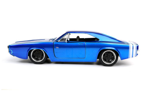 1968 Dodge Charger R/T, Blue - Jada Toys 31865/4 - 1/24 scale Diecast Model Toy Car