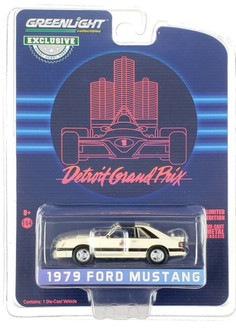 Detroit Grand Prix Official Pace Car 1979 Ford Mustang, White and Black - Greenlight 30167/48 - 1/64 scale Diecast Model Toy Car