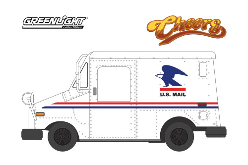 Cliff Clavin's U.S. Mail Long-Life Postal Delivery Vehicle (LLV), Cheers - Greenlight 44890D/48 - 1/64 scale Diecast Model Toy Car