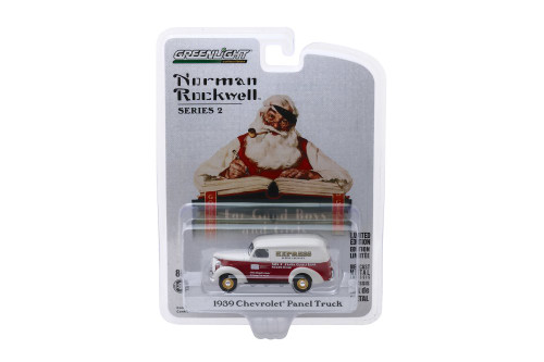 Express Letter Delivery 1939 Chevy Panel Truck, Red and White - Greenlight 54020/48 - 1/64 scale Diecast Model Toy Car