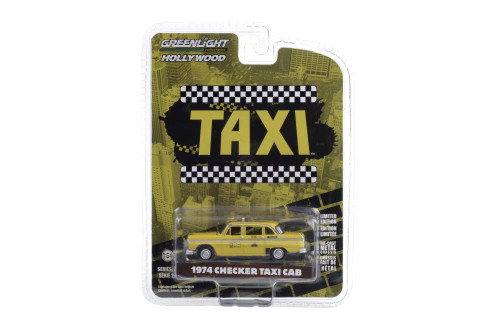 1974 Checker Taxi Sunshine Cab Company #804, Taxi - Greenlight 44890/48 - 1/64 scale Diecast Model Toy Car