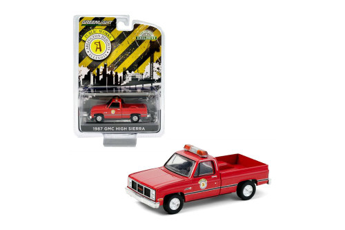 Public Works Arlington Heights, Illinois 1987 GMC High Sierra Pickup, Red - Greenlight 30213/48 - 1/64 scale Diecast Model Toy Car