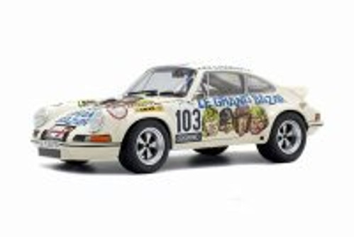 1973 Porsche 911 RSR 2.7 Le Grande Bazar Hard Top, #103 - Solido S1801106 - 1/18 Scale Diecast Model Toy Car