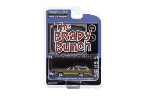 1969 Plymouth Satellite Station Wagon, The Brady Bunch - Greenlight 44890/48 - 1/64 scale Diecast Model Toy Car