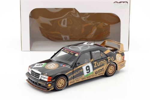 1991 Mercedes-Benz 190 Evolution II, #9 Grand Prix Macau 1991 - K. Ludwig - Solido S1801003 - 1/18 scale Diecast Model Toy Car