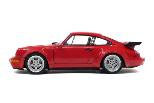1990 Porsche 964 911 Turbo, Red - Solido S1803402 - 1/18 scale Diecast Model Toy Car