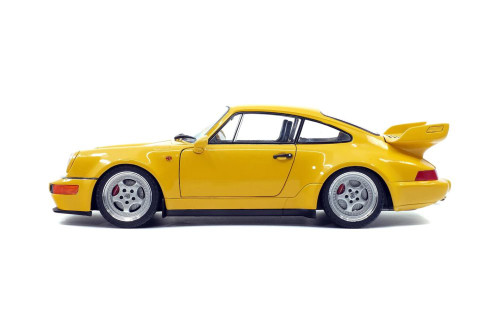 1990 Porsche 964 911 3.8 RS, Yellow - Solido S1803401 - 1/18 scale Diecast Model Toy Car