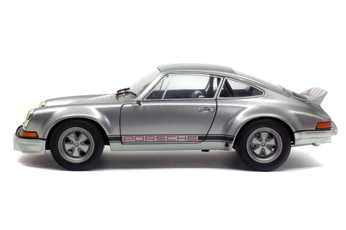 1973 Porsche 911 RSR, Silver - Solido S1801112 - 1/18 scale Diecast Model Toy Car