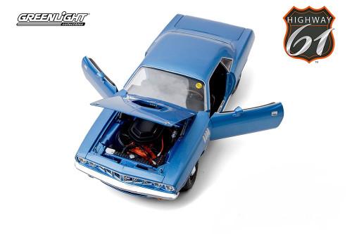 1971 Plymouth HEMI 'Cuda, Blue - Greenlight HWY18025 - 1/18 scale Diecast Model Toy Car