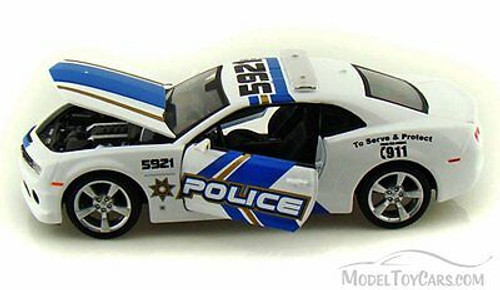 Chevy Camaro SS RS Police, White - Maisto 31208 - 1/24 Scale Diecast Model Toy Car