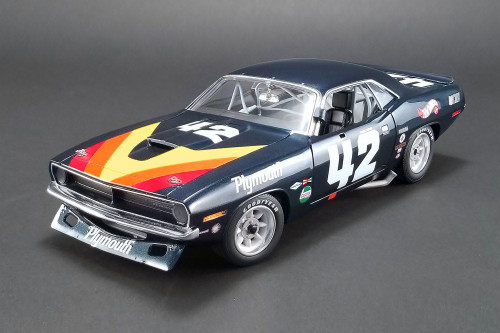 1970 Plymouth Barracuda Trans Am, #42 Swede Savage - Acme 1806103 - 1/18 scale Diecast Model Toy Car