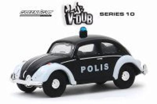 Volkswagen Beetle Police Car - Polis Trollveggen, Norway, Black - Greenlight 29980F/48 - 1/64 scale Diecast Model Toy Car