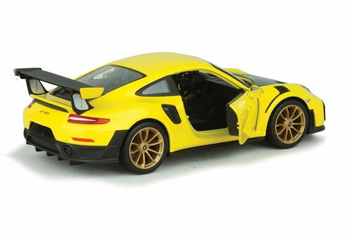 2018 Porsche 911 GT2 RS, Yellow and Black - Showcasts 34523 - 1/24 scale Diecast Model Toy Car