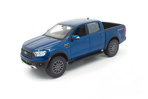 2019 Ford Ranger Pickup Truck, Blue - Showcasts 34521 - 1/27 scale Diecast Model Toy Car