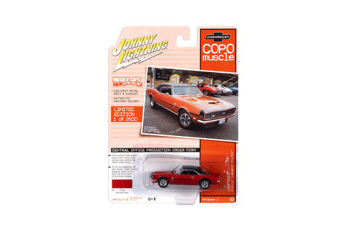 1968 Chevy Camaro RS/SS COPO Yenko, Madator Red - Johnny Lightning JLMC023/48B - 1/64 scale Diecast Model Toy Car