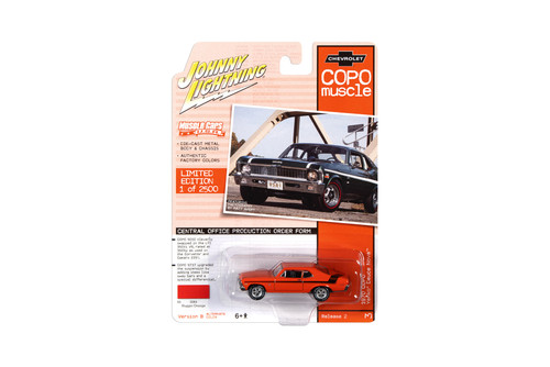 1970 Chevy Yenko Duece Nova COPO, Hugger Orange - Johnny Lightning JLMC023/48B - 1/64 scale Diecast Model Toy Car
