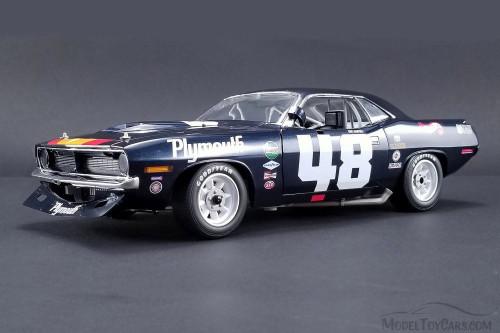 1970 Plymouth Dan Gurney Trans Am Barracuda #48, Blue - Acme 1806101 - 1/18 Scale Diecast Model Toy Car