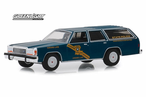 1987 Ford LTD Crown Victoria Wagon, Louisiana State Police Crime Scene Investigation Crime Lab - Greenlight 42890/48 - 1/64 scale Diecast Model Toy Car